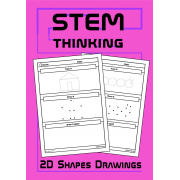 2D Shapes Drawing Worksheets, Art, STEM, STEAM